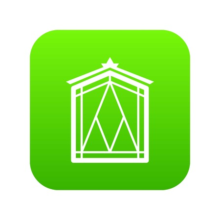 Fairy window frame icon green vector  イラスト・ベクター素材