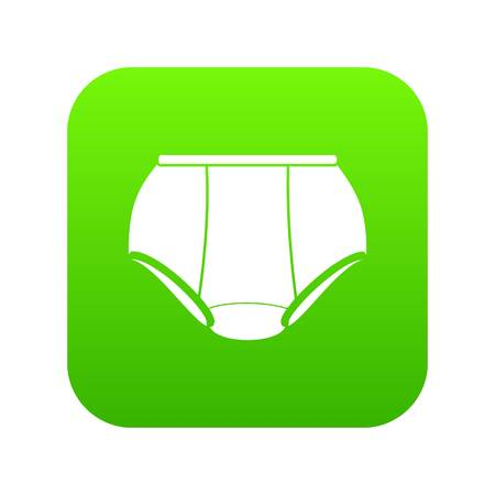Briefs underpants icon green vector