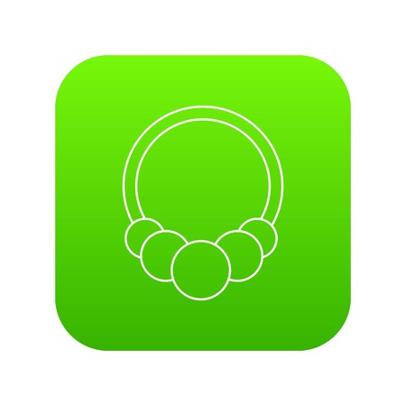 Fashion bracelet icon green vector