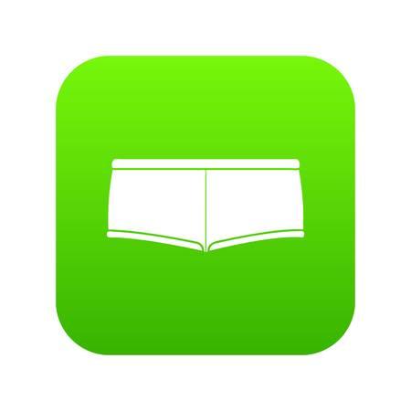 Underpants icon green vector Illustration