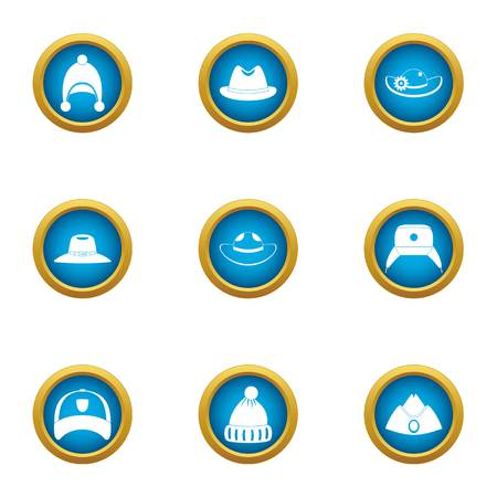 Lid icons set. Flat set of 9 lid vector icons for web isolated on white background