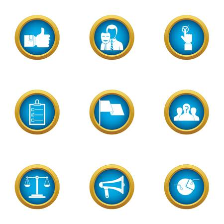Hypocrite icons set. Flat set of 9 hypocrite vector icons for web isolated on white background