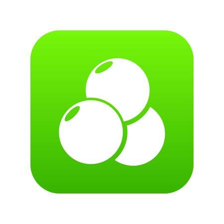 Paintball sport balls icon green vector