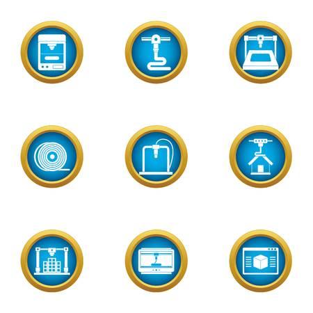 Tubular production icons set. Flat set of 9 tubular production vector icons for web isolated on white background