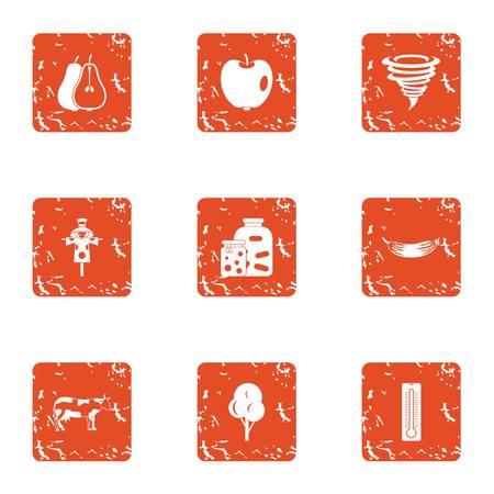 Margin icons set. Grunge set of 9 margin vector icons for web isolated on white background Illustration