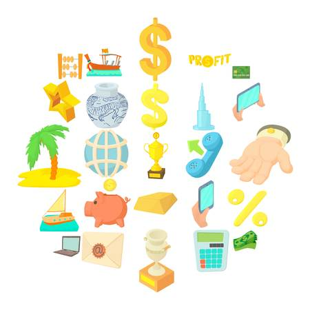 Currency icons set. Cartoon set of 25 currency vector icons for web isolated on white background