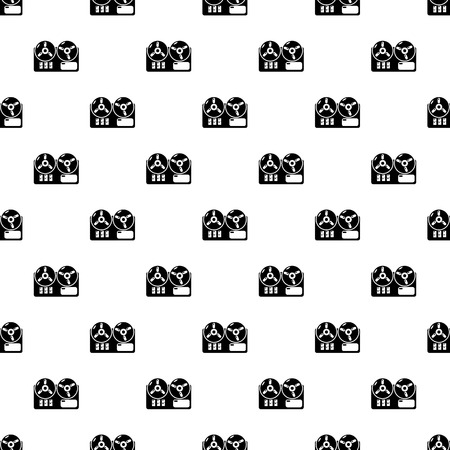 Reel tape recorder pattern vector seamless repeating for any web design