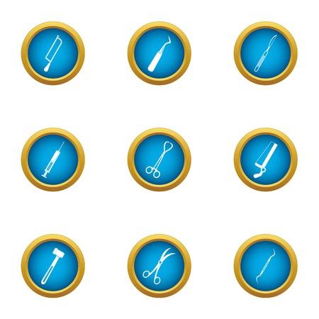 Medical syringe icons set. Flat set of 9 medical syringe vector icons for web isolated on white background