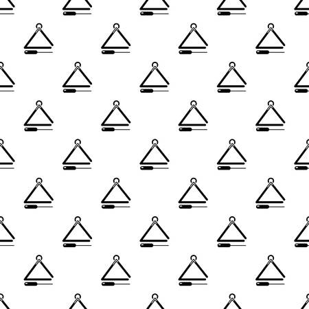 Musical triangle pattern vector seamless