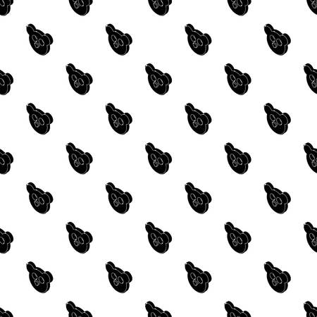 Mouse form button clothes pattern vector seamless repeating for any web design