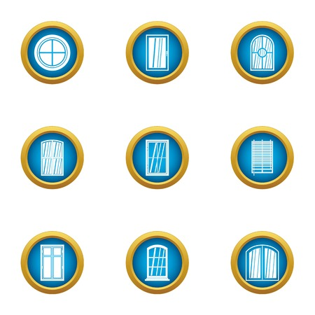 Viewport icons set, flat style