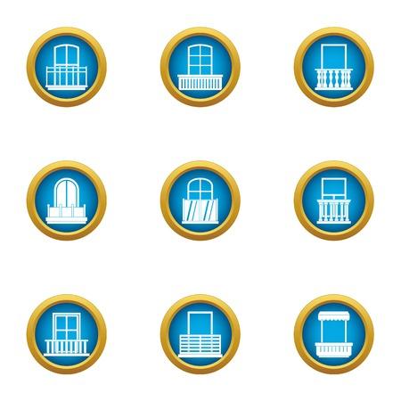 Loophole icons set, flat style