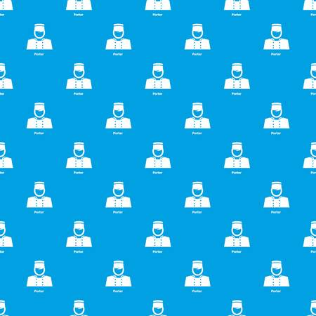 Porter pattern vector seamless blue repeat for any use