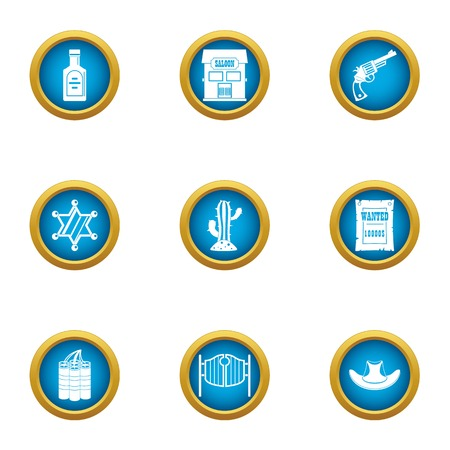 Bailiff icons set. Flat set of 9 bailiff vector icons for web isolated on white background