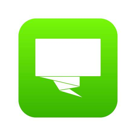 Square banner icon digital green