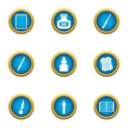 Mascara icons set. Flat set of 9 mascara vector icons for web isolated on white background Ilustração