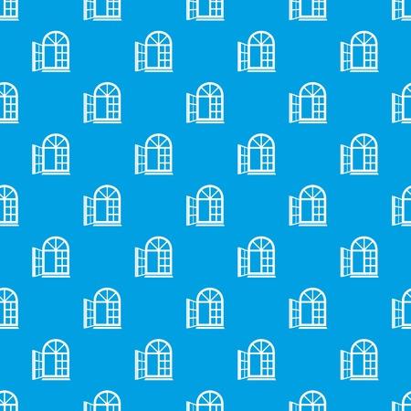 Window frame pattern vector seamless blue  イラスト・ベクター素材