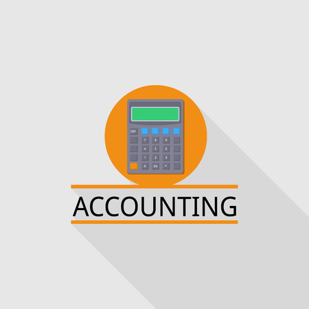 Calculator accounting   flat style