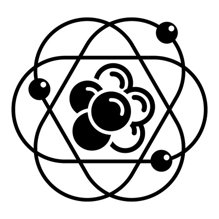 Atom molecule icon. Simple illustration of atom molecule vector icon for web design isolated on white background