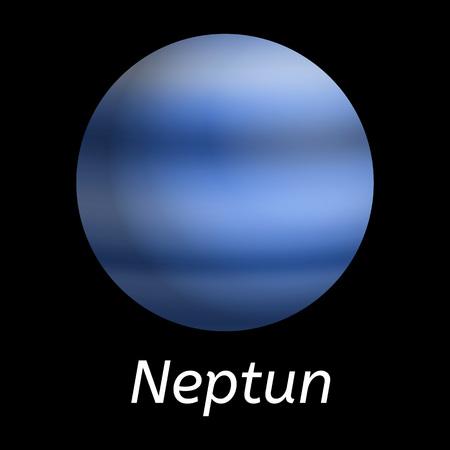 Neptun planet icon, realistic style