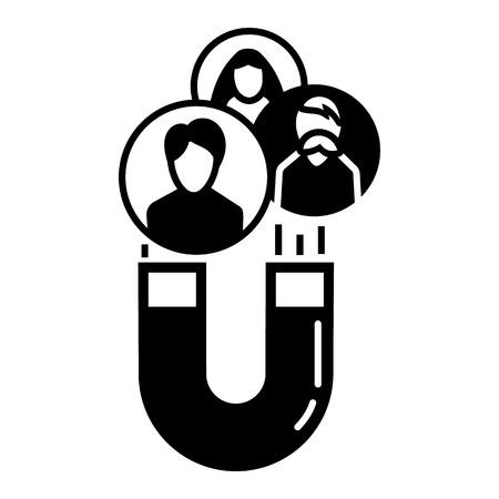 Icône de rétention client aimant. Simple illustration de l'icône vecteur rétention client aimant pour la conception web isolé sur fond blanc Vecteurs