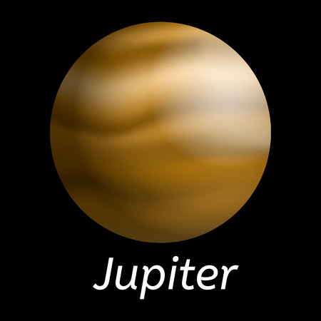 Jupiter planet icon, realistic style 向量圖像