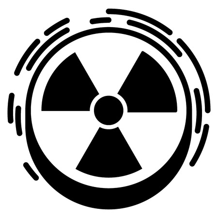 Radiation sign icon, simple style