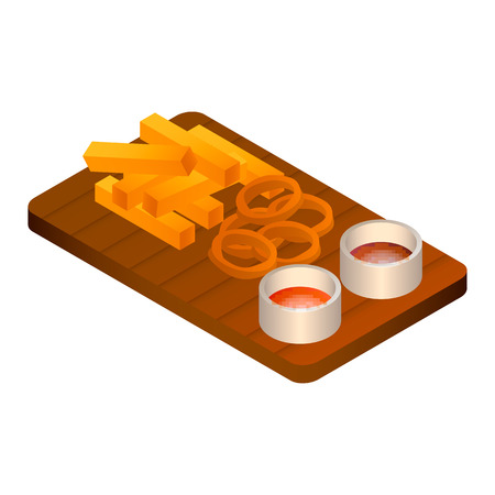 Set of beer food icon. Isometric of set of beer food vector icon for web design isolated on white background
