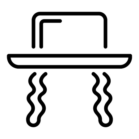 Jewish hat icon, outline style Illustration