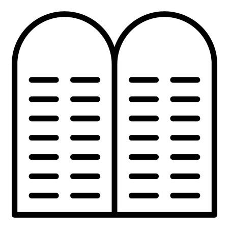 Jewish stone icon, outline style