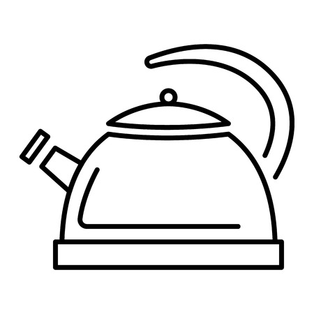 Whistle kettle icon. Outline whistle kettle vector icon for web design isolated on white background