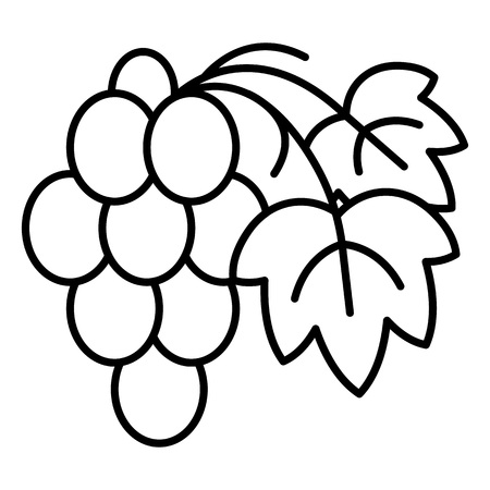 Cabernet grape icon, outline style 向量圖像