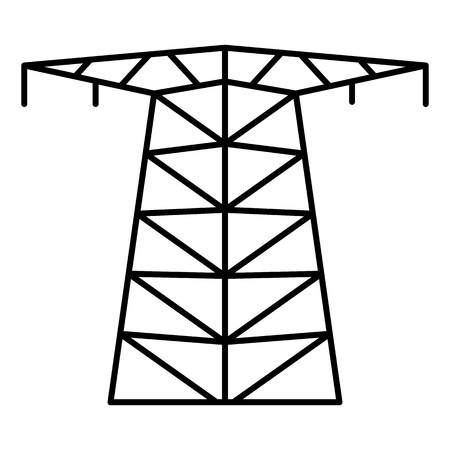Large electric tower icon. Outline large electric tower vector icon for web design isolated on white background Stock Illustratie