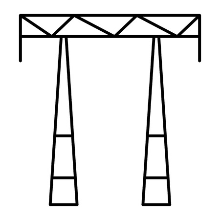 Ac electric tower icon. Outline ac electric tower vector icon for web design isolated on white background Stock Illustratie