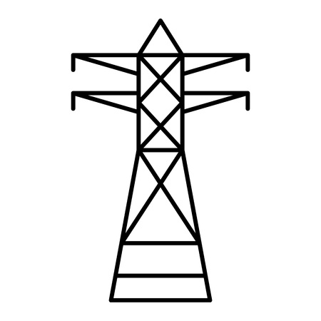 Telephone electric tower icon. Outline telephone electric tower vector icon for web design isolated on white background