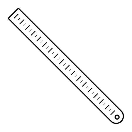 Icono de la regla de la escuela. Esquema de la regla de la escuela icono vectoriales para diseño web aislado sobre fondo blanco.