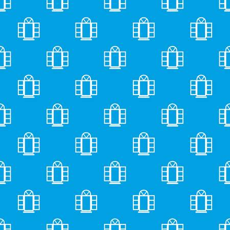Open narrow window frame pattern vector seamless blue repeat for any use