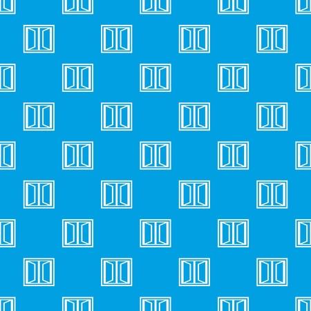 Plastic window frame pattern vector seamless blue