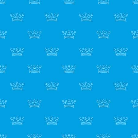 Crown pattern vector seamless blue repeat for any use