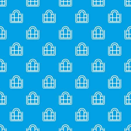 Beautiful window frame pattern vector seamless blue repeat for any use