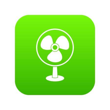 Ventilator icon digital green Illustration