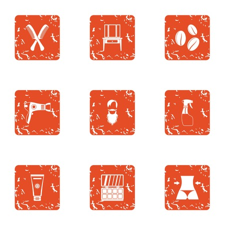 Youth body icons set. Grunge set of 9 youth body vector icons for web isolated on white background