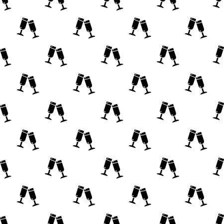 Glasses champagne pattern vector seamless repeating for any web design