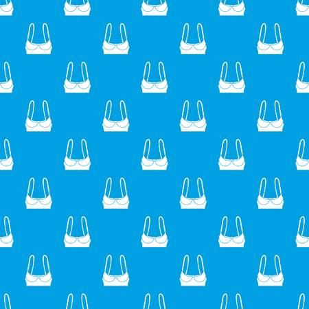 Sports bra pattern vector seamless blue repeat for any use Vettoriali