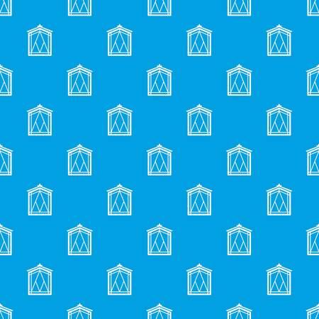 Fairy window frame pattern vector seamless blue  イラスト・ベクター素材