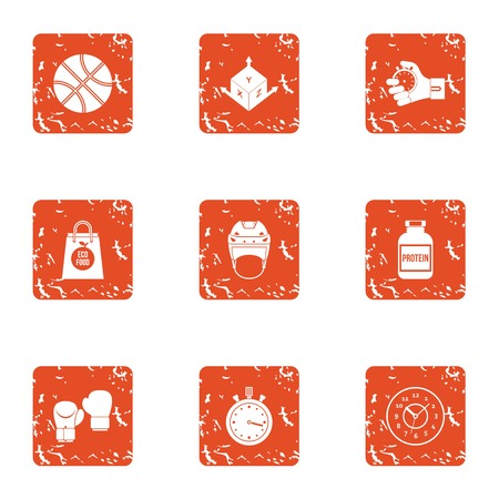 Albumen icons set. Grunge set of 9 albumen vector icons for web isolated on white background