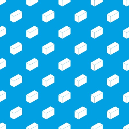 Cement block pattern vector seamless blue repeat for any use