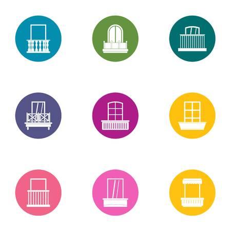 Euro window icons set. Flat set of 9 euro window icons for web isolated on white background 写真素材