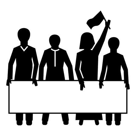 Demonstration crowd icon. Simple illustration of demonstration crowd vector icon for web design isolated on white background 일러스트