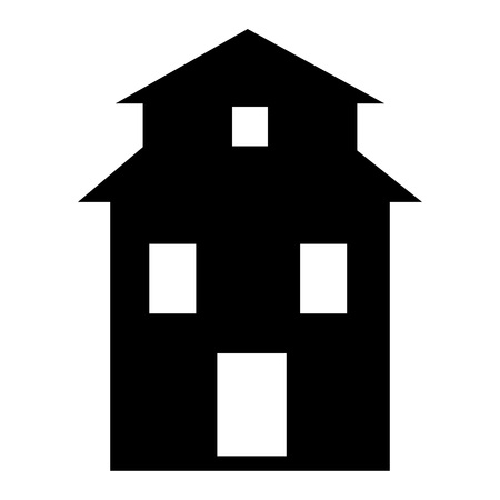 Farm house icon. Simple illustration of farm house vector icon for web design isolated on white background Illustration